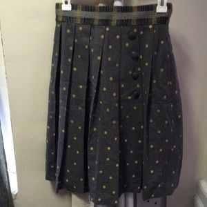 Anthropologie Tracy Reese Wool skirt with dots